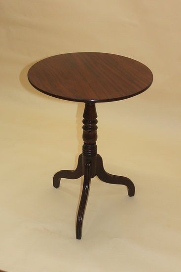 A George III period mahogany tripod table