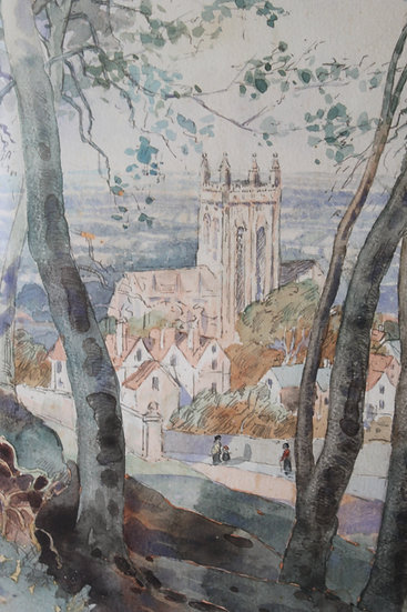 A view of Malvern, Worcestershire by Leonard Ward.