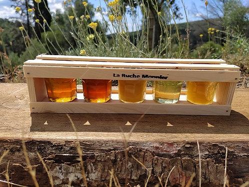 Coffret dégustations de miels : 5 x 50g