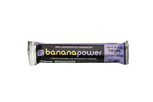 Barra de banana, quinoa e linhaça