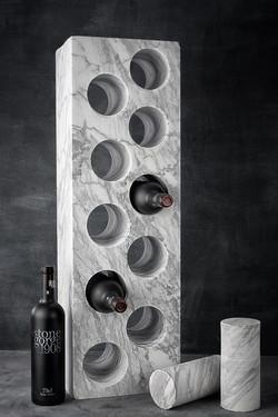 Carrara Marble Wine Rack