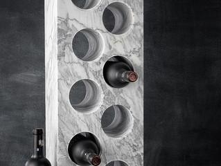 Introducing a new range of stunning Carrara Marble wine racks