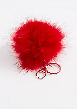 PUFF KEY CHAIN-RED