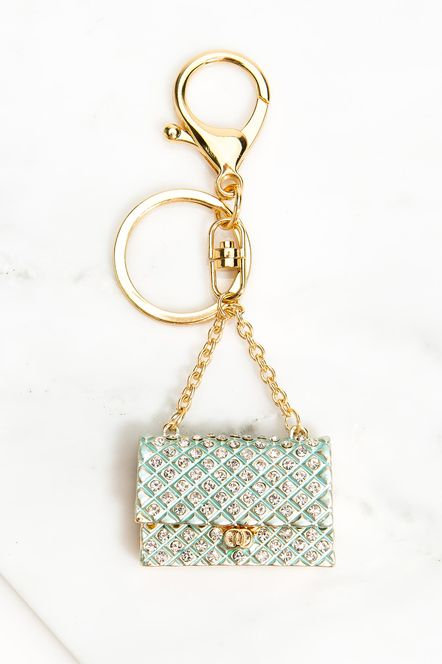 BLING CLUTCH KEYCHAIN