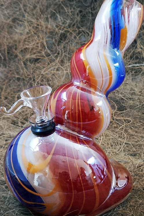 Colour Glass Bong - 20cm