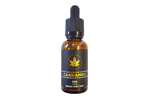 African CannaMed CBD Oil 1000mg (Broad Spectrum)