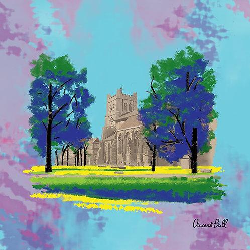 Waltham Abbey Church, Essex, Canvas Print