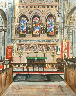 Inside Waltham Abbey Church.