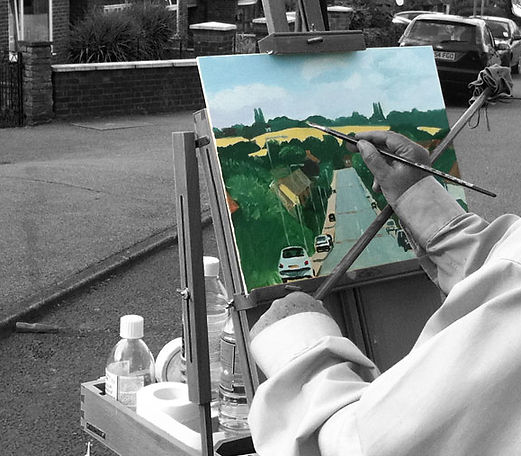 Vincent Ball Painting in Willingale Road, Loughton, Essex
