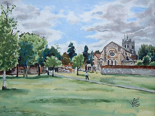 The Abbey Gardens, Waltham Abbey Canvas print