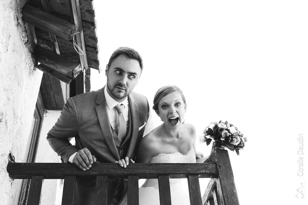 Photo couple mariés décalée et drôle