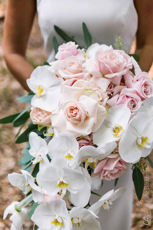 bouquet mariée orchidées et roses