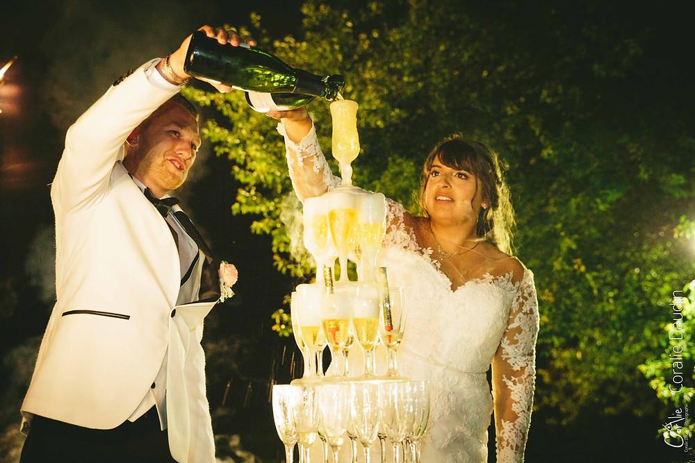 cascade champagne mariage