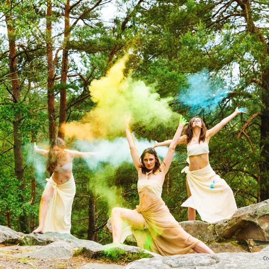 Séance photo - Danse & pigments - Forêt de Rambouillet (78)