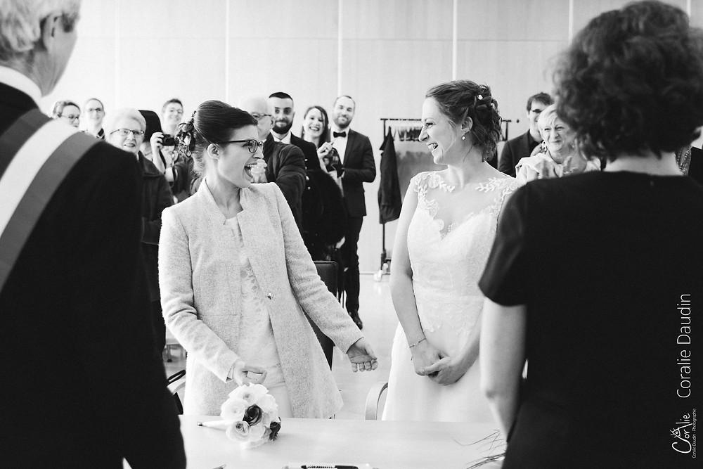 Photo cérémonie de mariage mairie de Chaville