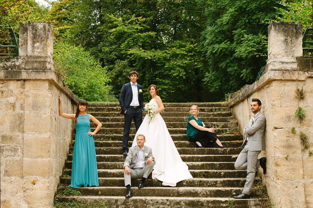 Photo originale groupe mariage