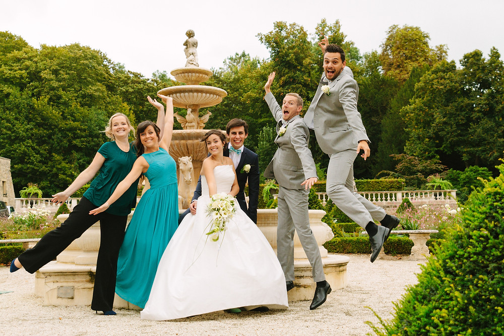 photo de groupe originale mariage Ile de France
