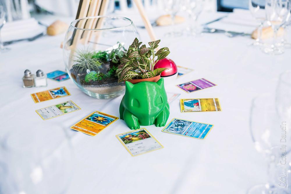 décoration mariage geek avec pokémons