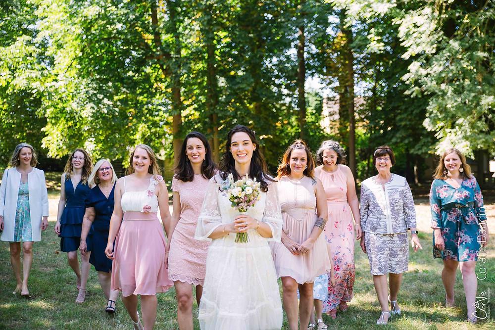 photographie de groupe mariage