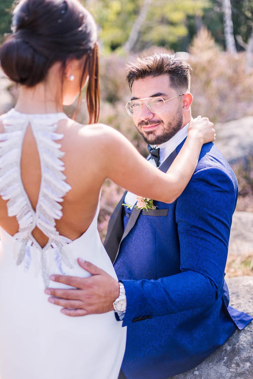 portrait du marié shooting couple