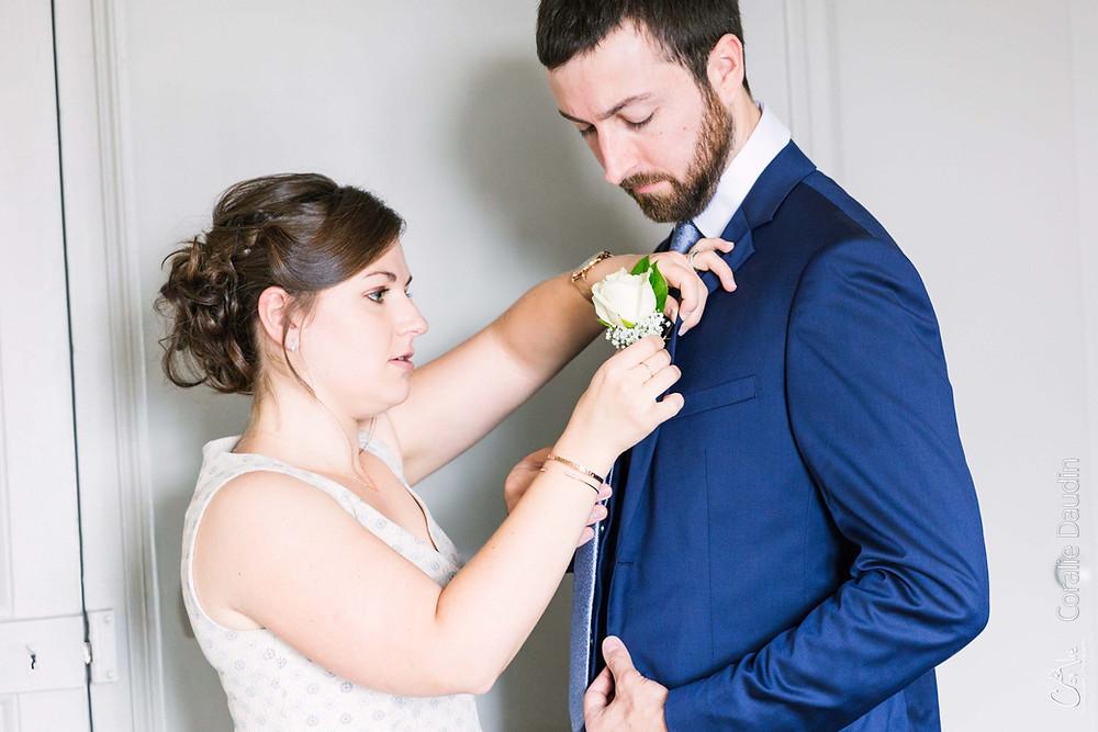 reportage photo préparatifs marié