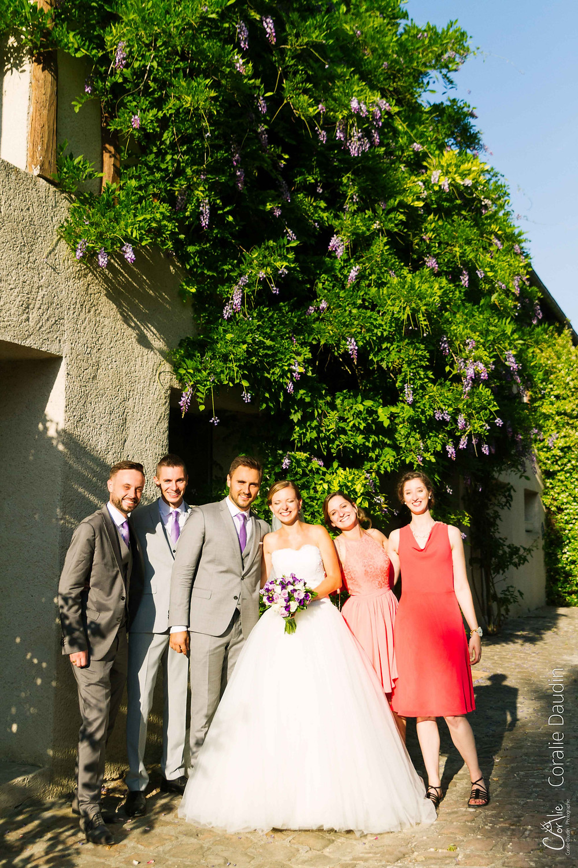 Photographe mariage photo avec les témoins