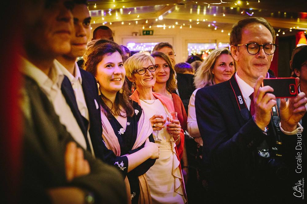 Photographe soirée mariage péniche Boulogne-Billancourt