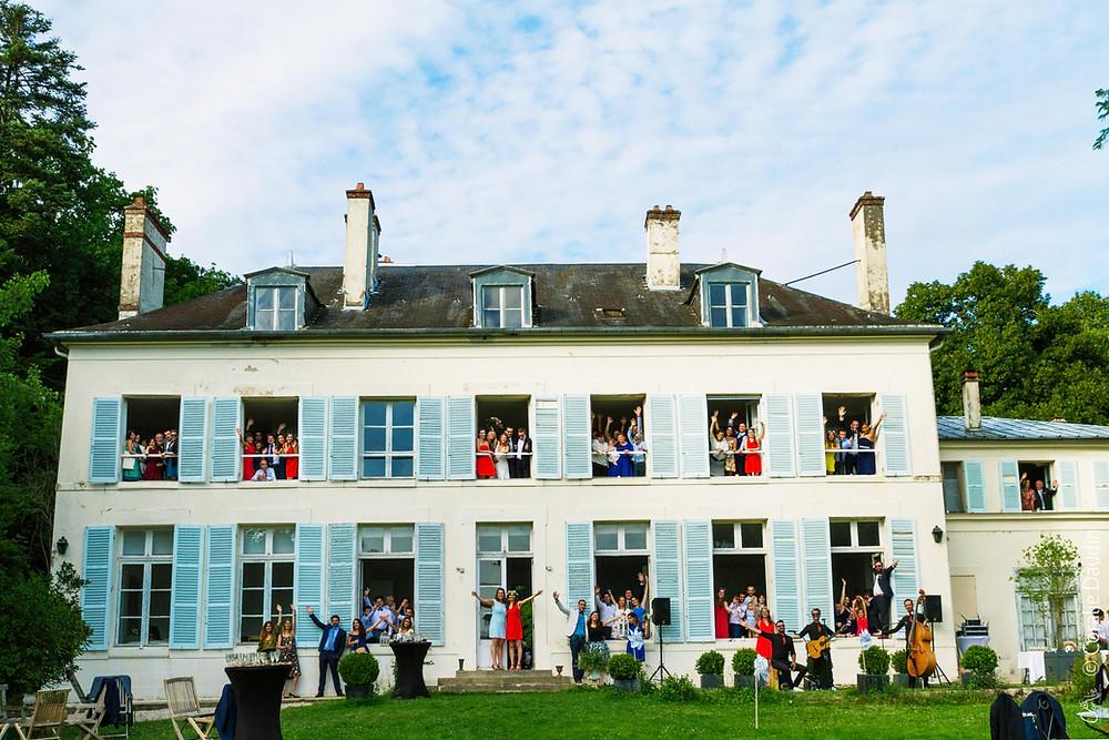 Mariage Château de Séréville - Bourgogne- photo groupe