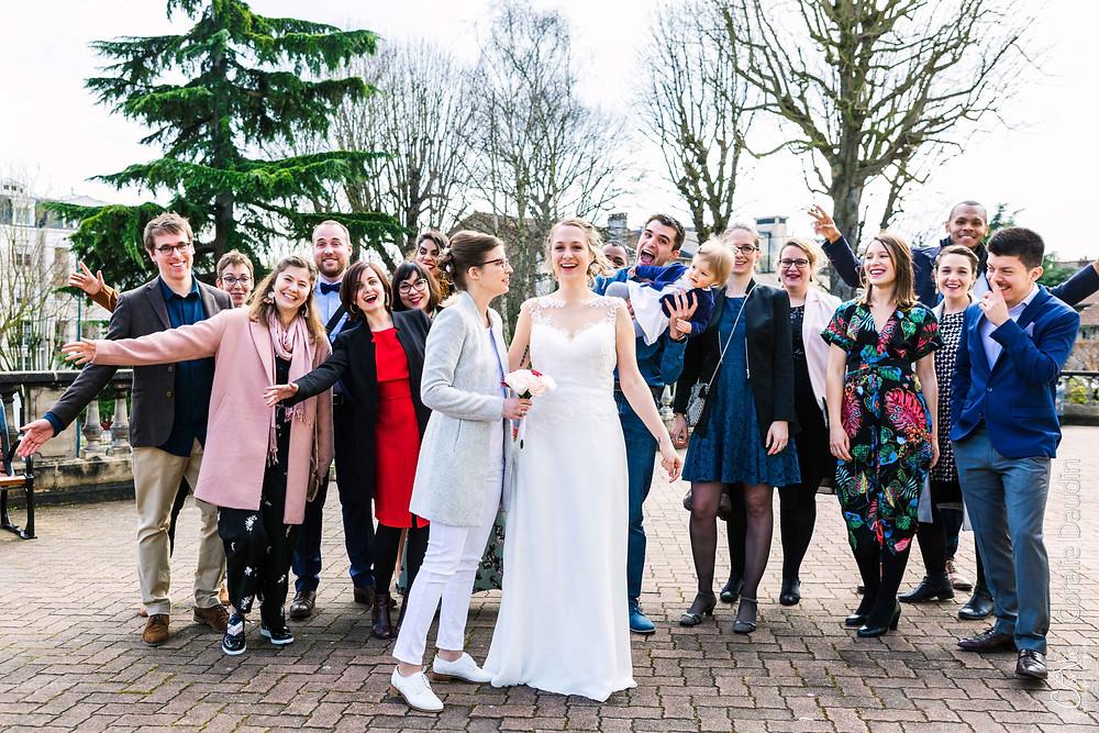 Reportage photo mariage Chaville, Hauts de Seine, photo de groupe