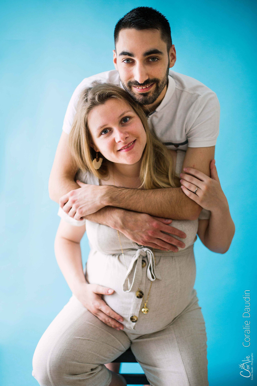 shooting photo femme enceinte en studio en Essonne