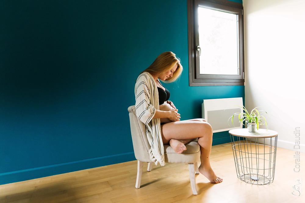 reportage photo grossesse à domicile