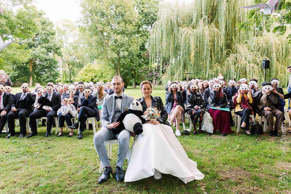 cérémonie laïque mariage domaine du Marais