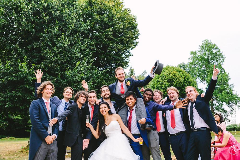 photo de groupe mariage Yvelines