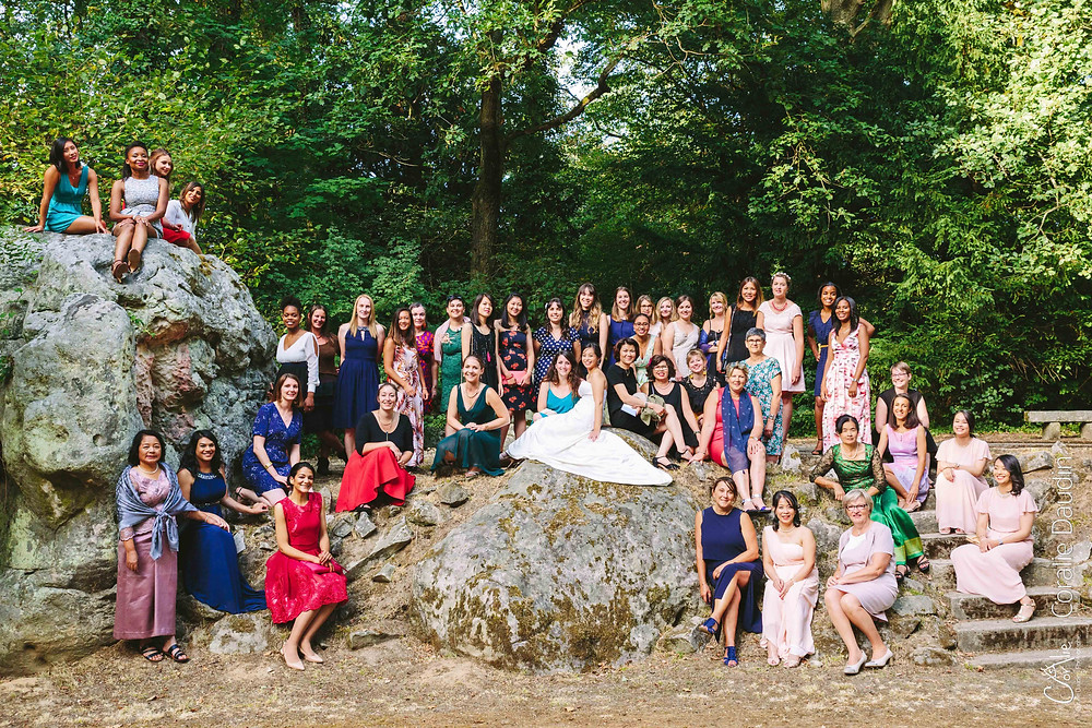 photo groupe mariage Manoir des Roches
