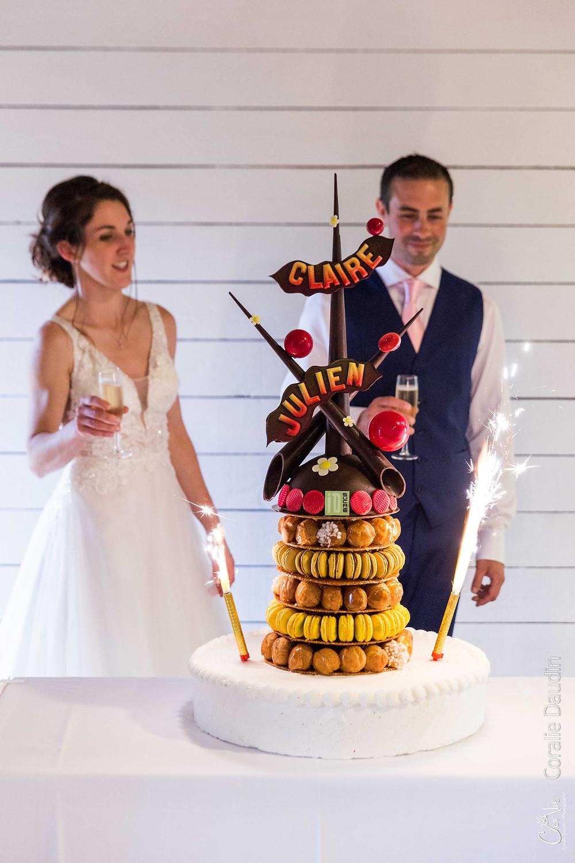 photo gâteau mariage original