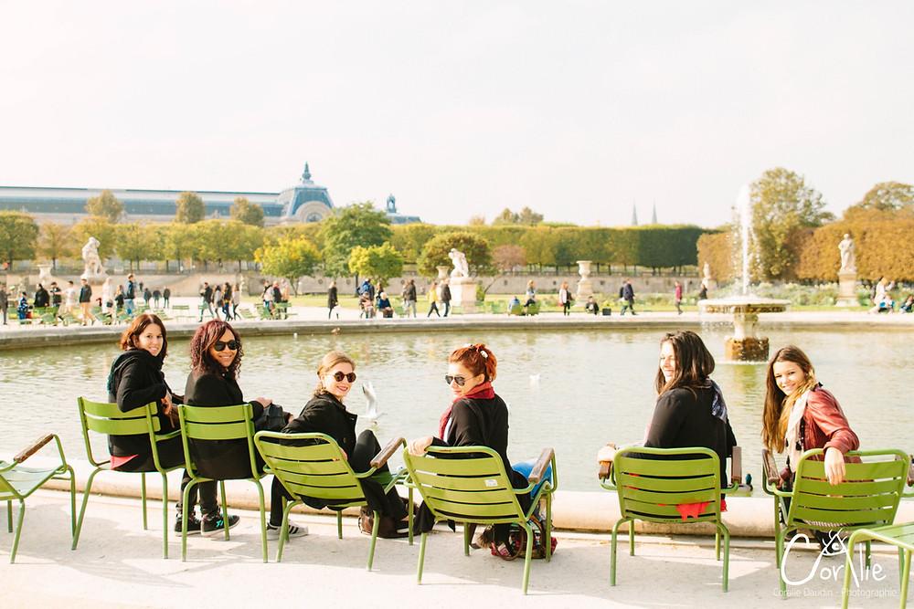 Photographe Enterrement de vie de jeune fille à Paris