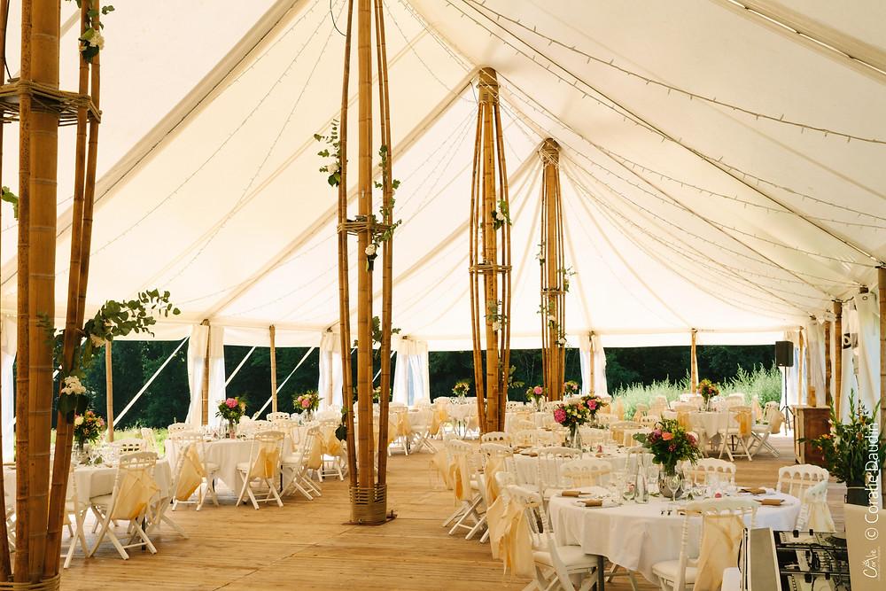 Réception mariage barnum