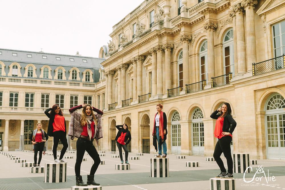 Séance photo EVJF à Paris - Palais Royal
