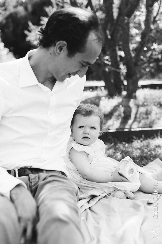 photographie père et sa fille
