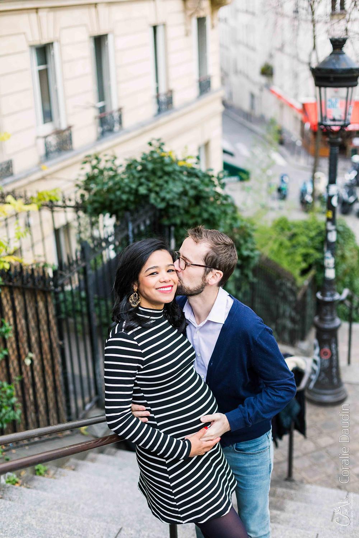 Photo couple à Montmartre, Paris