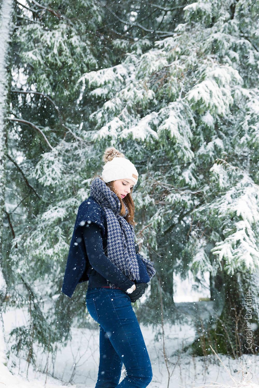 Photographe grossesse neige