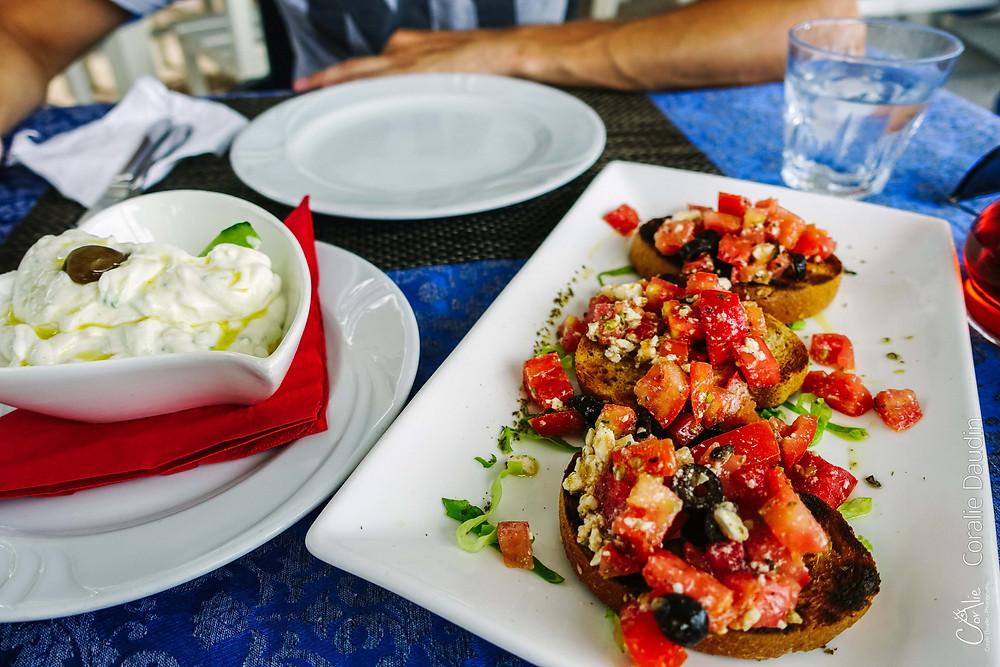 Bruschetta nourriture Albanie