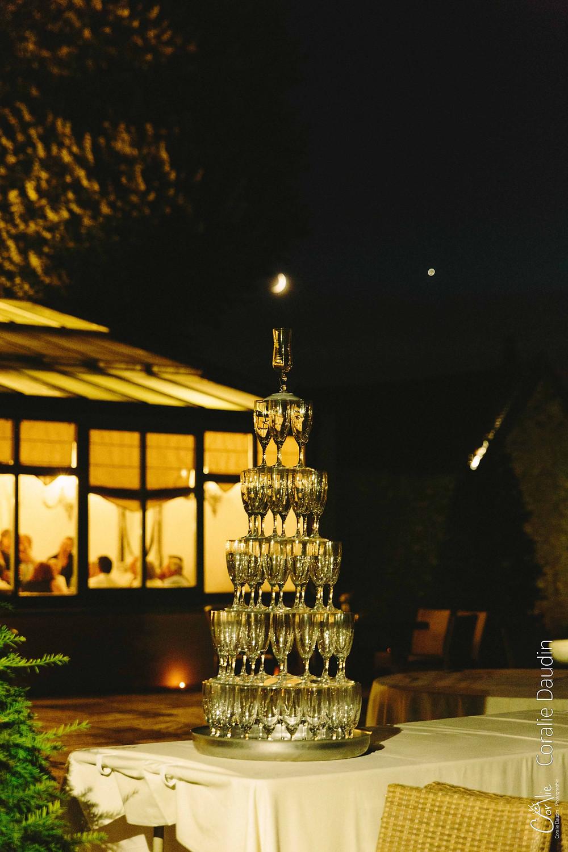cascade champagne lune mariage