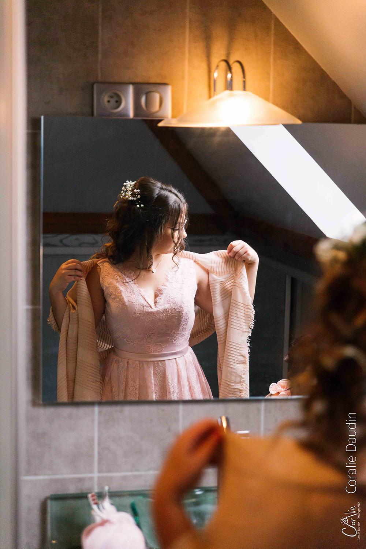 reportage photo préparatifs mariée