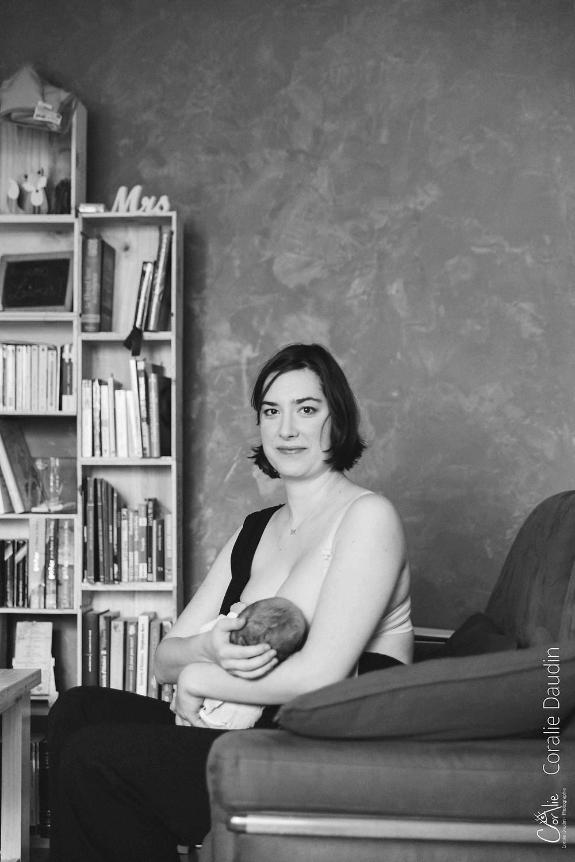 Séance photo naissance à domicile à Bourg-le-Reine (91)