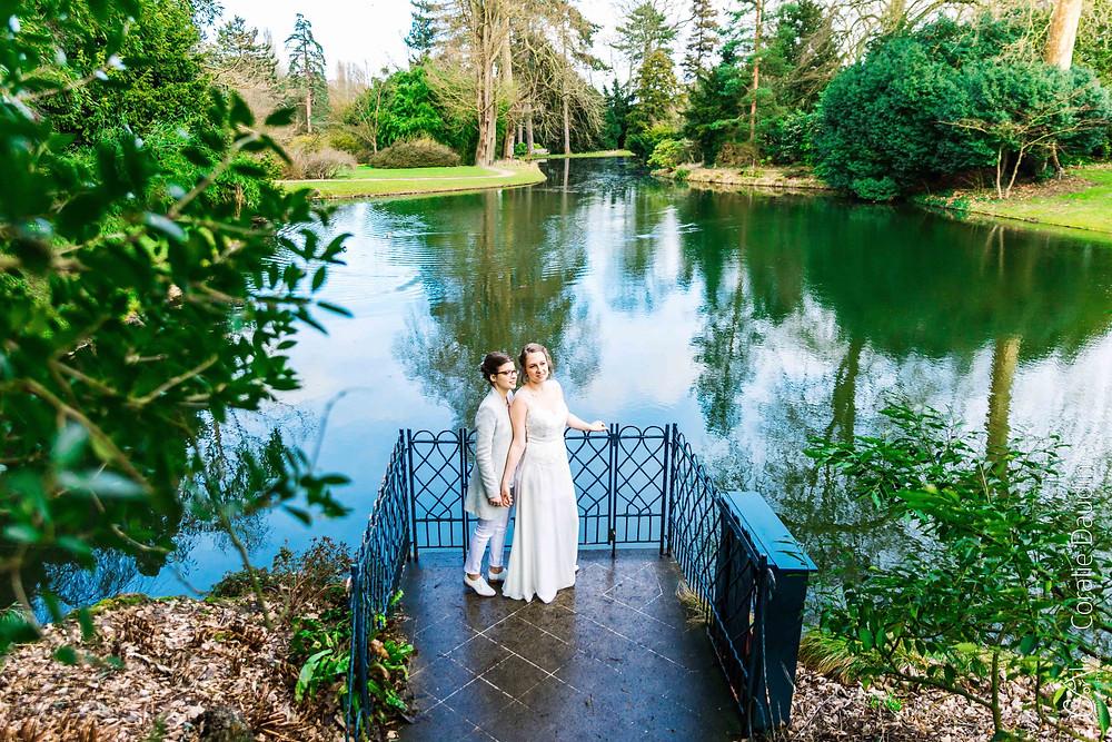photo de couple parc de la vallée aux loups, Châtenay Malabry