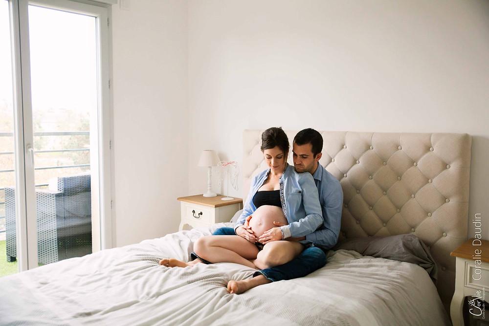 Séance photo grossesse à domicile, Hauts-de-Seine