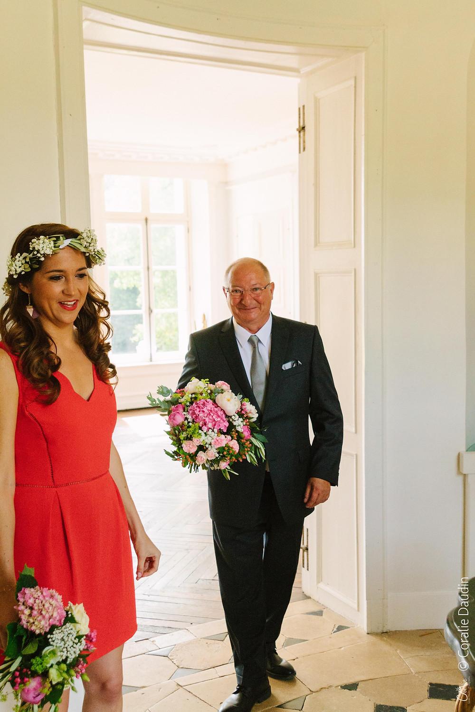 Reportage photo mariage - père de la mariée