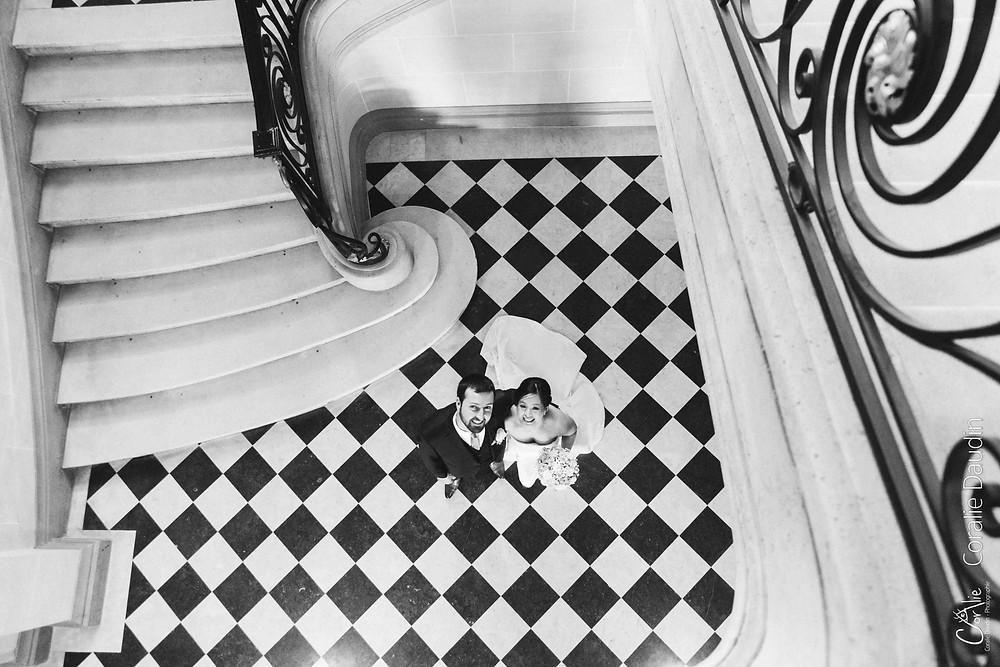 photo sortie des mariés mairie de Montrouge