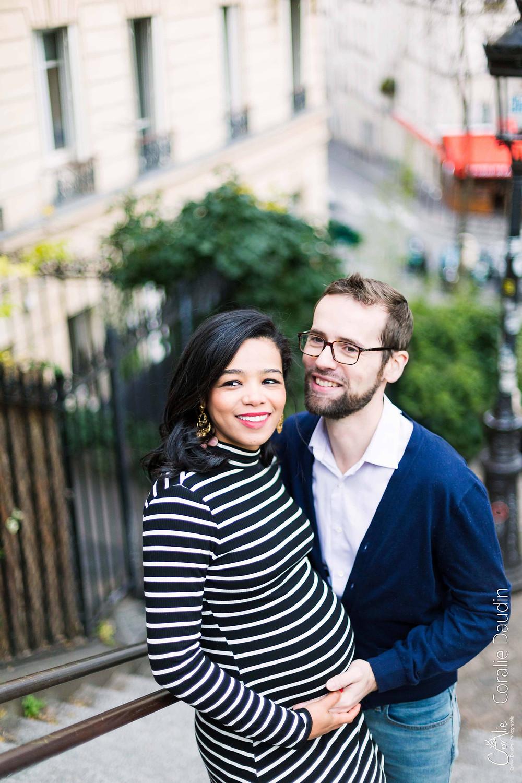 Photographe couple à Montmartre, Paris